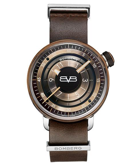 アウトレット ボンバーグ BB-01 CT43H3PBA.04-1.9 腕時計 メンズ クォーツ BOMBERG ブラウン & ブラック レザーストラップ