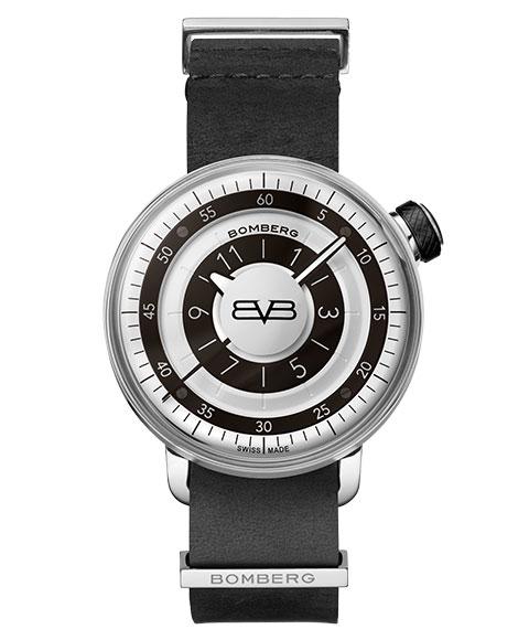 アウトレット ボンバーグ BB-01 CT43H3SS.03-1.9 腕時計 メンズ クォーツ BOMBERG ブラック & ホワイト レザーストラップ