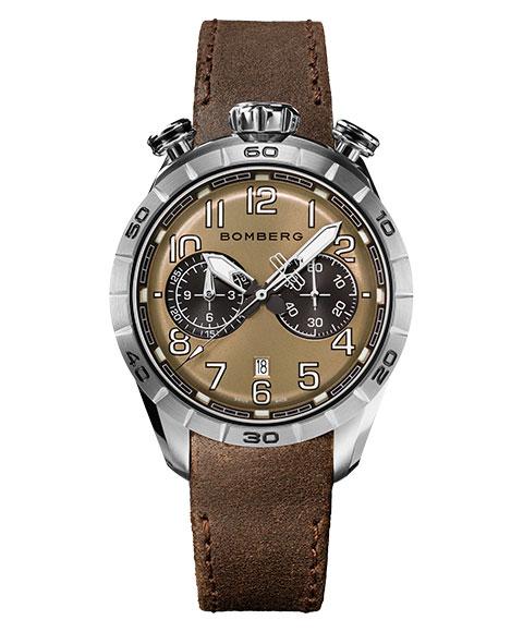 アウトレット ボンバーグ BB-68 NS44CHSS.206.9 腕時計 メンズ クォーツ BOMBERG ブラウン レザーストラップ
