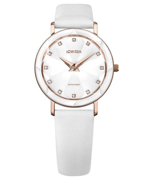 ジョウィサ ファセット 5.609.M 腕時計 レディース JOWISSA Facet ゴールド レザーストラップ ホワイト系