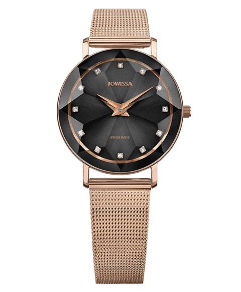 ジョウィサ ファセット 5.611.M 腕時計 レディース JOWISSA Facet ゴールド メタルブレス