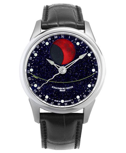 シャウボーグ ブラッドムーンギャラクシー BMOON-GALAXY 腕時計 メンズ SCHAUMBURG BLOOD MOON GRAND PERPETUAL 自動巻 レザーストラップ
