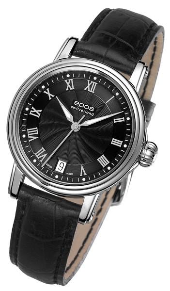エポス エモーション クラシック 4390RBK 腕時計 レディース 自動巻 epos Emotion 自動巻 レザーストラップ