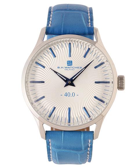 BHウォッチ ミラノ W40STSVBL 腕時計 ユニセックス B.H.WATCHES MILANO メンズ レディース レザーストラップ ブルー系