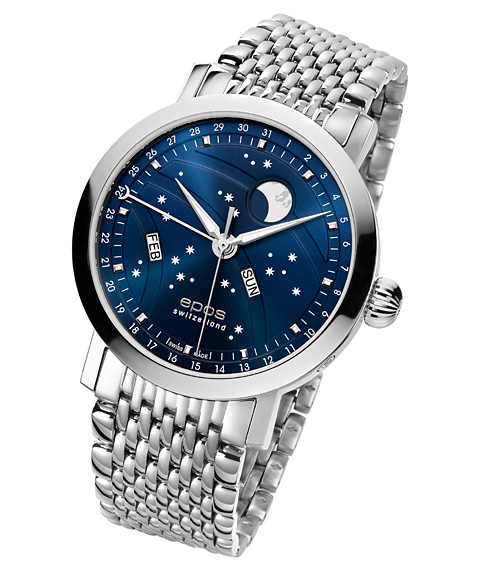 エポス ナイトスカイ ビッグムーン 3440BLM 自動巻き 腕時計 メンズ epos Big Moon ブルー系