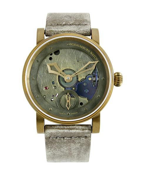 シャウボーグ ウニカトリウム スチームパンク STEAMPUNK1-REC ヴィンテージ加工 腕時計 メンズ SCHAUMBURG Unikatorium Hand Made