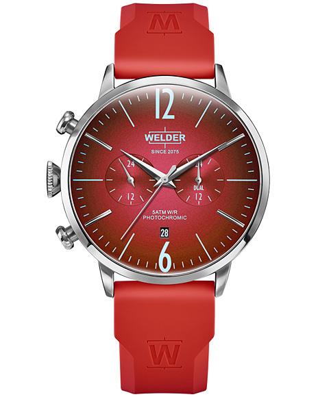 ウェルダー ムーディ ラバーストラップ WWRC522 腕時計 メンズ WELDER MOODY DUAL TIME 45MM RUBBER STRAP レザーストラップ