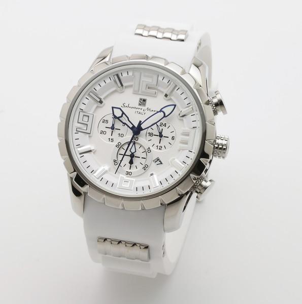 サルバトーレマーラ SM15107-SSWH/WH 腕時計 メンズ Salvatore Marra クロノグラフ 3Dインデックス ホワイト系