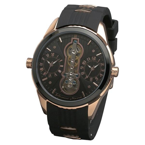 サルバトーレマーラ SM18113-PGBK 腕時計 メンズ Salvatore Marra ツインテンプ ゴールド