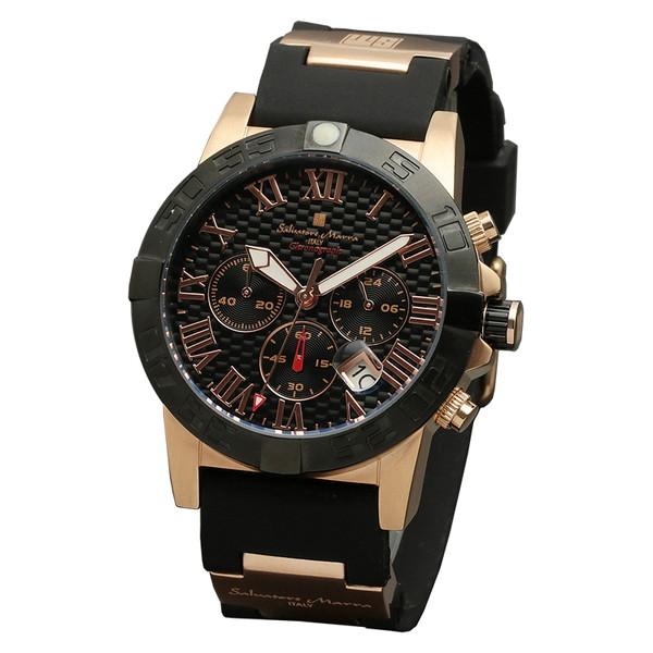 サルバトーレマーラ SM18118-PGBK 腕時計 メンズ Salvatore Marra クロノグラフ ゴールド