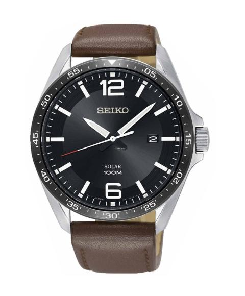 セイコー SNE487P 腕時計 メンズ SEIKO ソーラーバッテリー レザーベルト 逆輸入モデル プレゼント