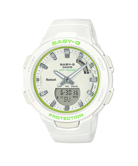 カシオ ベビージー BSA-B100SC-7A 腕時計 ユニセックス CASIO Baby-G 海外モデル モバイルリンク機能 多機能 プレゼント G-SQUAD ホワイト系