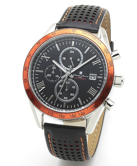 サルバトーレマーラ SM19108-SSBKOR2 腕時計 メンズ Salavatore Marra クロノグラフ レザーストラップ