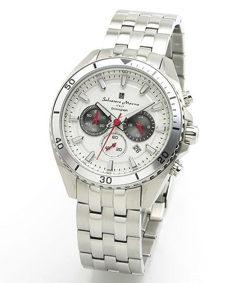 サルバトーレマーラ SM19113-SSWH 腕時計 メンズ Salavatore Marra クロノグラフ レザーストラップ