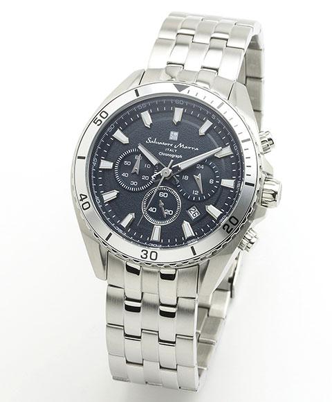 サルバトーレマーラ SM19113-SSBL 腕時計 メンズ Salavatore Marra クロノグラフ レザーストラップ ブルー系