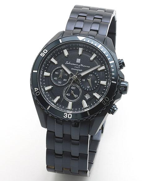 サルバトーレマーラ SM19113-BLBL 腕時計 メンズ Salavatore Marra クロノグラフ レザーストラップ ブルー系