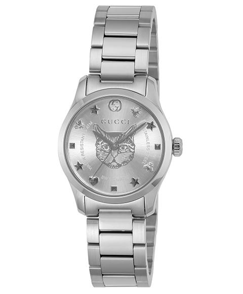 グッチ G-Timeless YA126595 腕時計 レディース GUCCI G-タイムレス メタルブレス 防水 プレゼント ラッピング無料 送料無料 ご挨拶 景品 お礼 快気祝 ハロウィン
