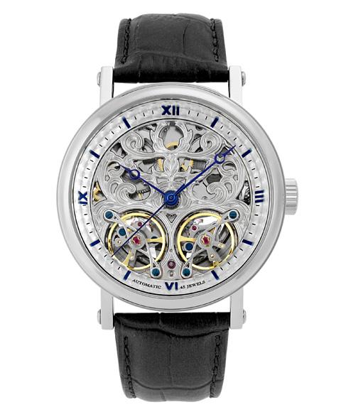 アルカフトゥーラ メカニカルスケルトン 091601RBLBK 自動巻 腕時計 メンズ ARCAFUTURA