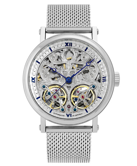 アルカフトゥーラ メカニカルスケルトン 091601RBL-M 自動巻 腕時計 メンズ ARCAFUTURA