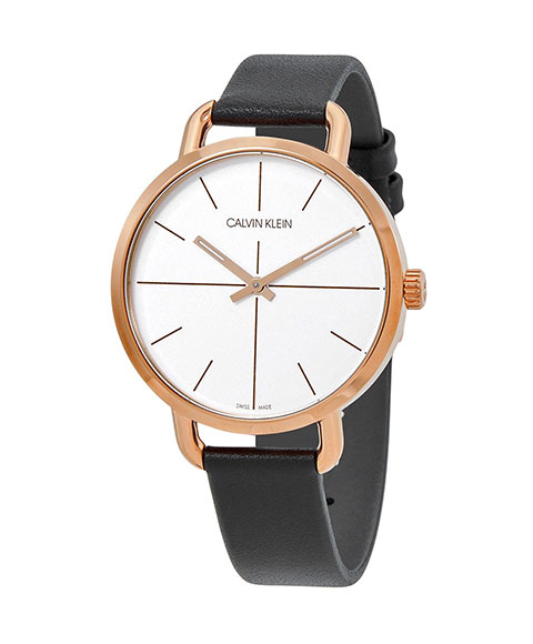 カルバンクライン イーブン エクステンション K7B236C6 腕時計 レディース CALVIN KLEIN Even Extension ゴールド レザーストラップ