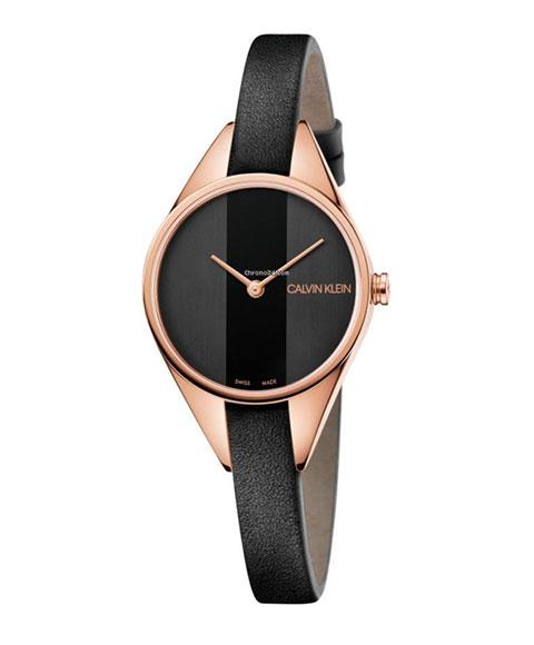 カルバンクライン リベル K8P236C1 腕時計 レディース CALVIN KLEIN Rebel ゴールド レザーストラップ