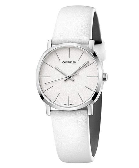 カルバンクライン ポッシュ K8Q331L2 腕時計 レディース CALVIN KLEIN POSH レザーストラップ ホワイト系