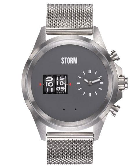 ストーム ロンドン KOMBITRON 47466GY 腕時計 メンズ STORM LONDON