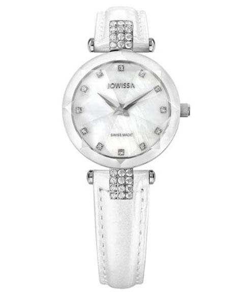 ジョウィサ ファセット ストラス 5.619.S 腕時計 レディース JOWISSA Facet Strass J5シリーズ レザーストラップ ホワイト系