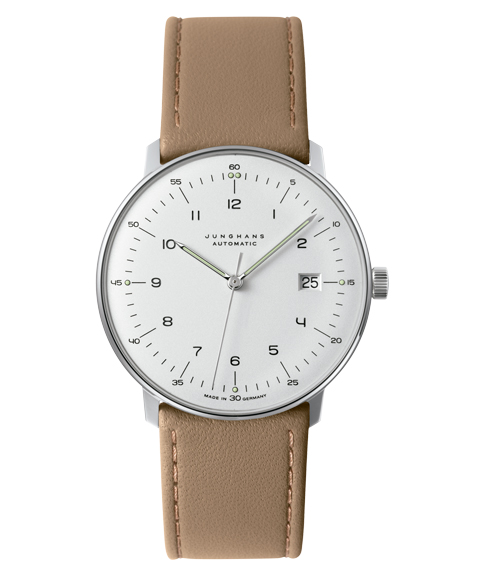 ユンハンス JUNGHANS マックスビル 027 市場 4700 02B 自動巻き 腕時計 メンズ Max 正規認証品 新規格 Bill Automatic ベージュ レザーストラップ 4700.02B