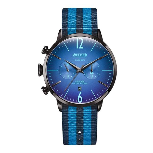 WELDER 贈答 MOODY 腕時計 ウェルダームーディー 45mm デュアルタイム BK BL DL NATO WelderMoody クォーツ ストラップ ラッピング無料 ペアウォッチ WWRC510 誕生日プレゼント メンズ 上質 ナイロンストラップ