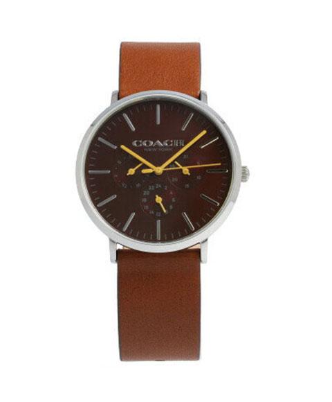 コーチ ヴァリック 14602388 腕時計 メンズ COACH VARICK ブランド マルチファンクション レザーストラップ