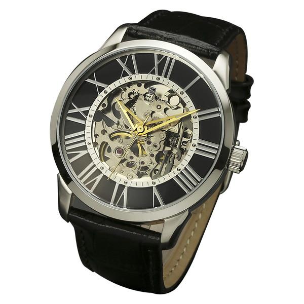 サルバトーレマーラ SM16101-SSBK 腕時計 メンズ スケルトン 手巻き Salvatore Marra クロノグラフ スケルトン レザーストラップ