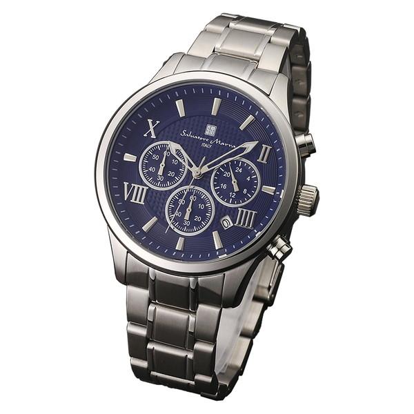 サルバトーレマーラ SM15102-SSBL 腕時計 メンズ Salvatore Marra