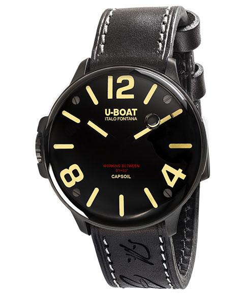 ユーボート カプソイル DLC 8108 腕時計 メンズ U BOAT CAPSOIL DLC レザーストラップFTK1cul3J