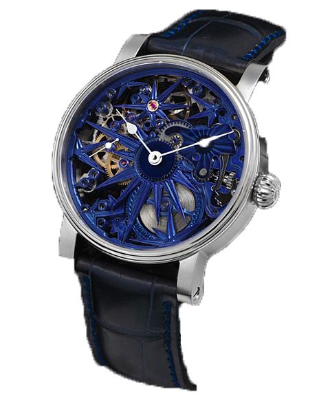 海外取り寄せ品 シャウボーグブルーアイス BLUE ICE 腕時計 メンズ SCHAUMBURG watch レザーストラップ ブルー系