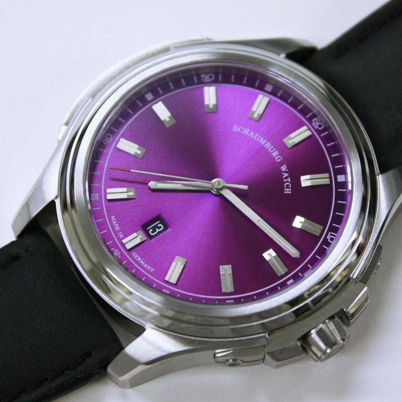 アウトレット シャウボーグ アーバニック URBANIC-3HBL 腕時計 メンズ SCHAUMBURG URBANIC 自動巻 レザーストラップ
