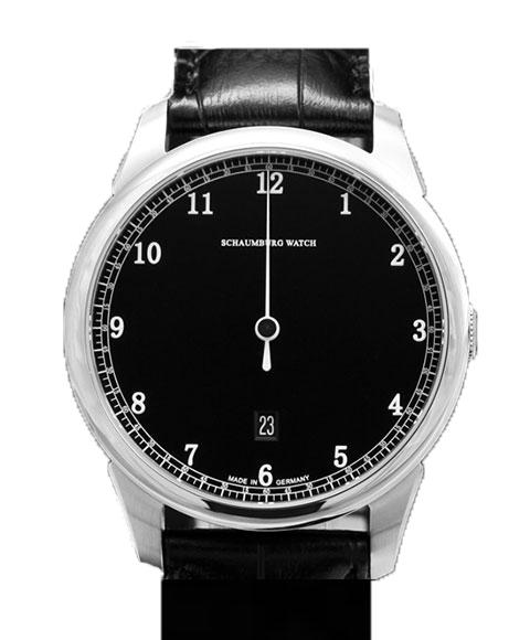 シャウボーグ グノモニック GNOMONIK-BK (ブラック) 腕時計 メンズ SCHAUMBURG 自動巻 レザーストラップ