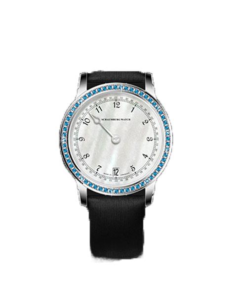 シャウボーグ ウーマンパッションブルー WOMAN PASSION BLEU トパーズ 腕時計 レディース SCHAUMBURG GNOMONIK 自動巻 レザーストラップ