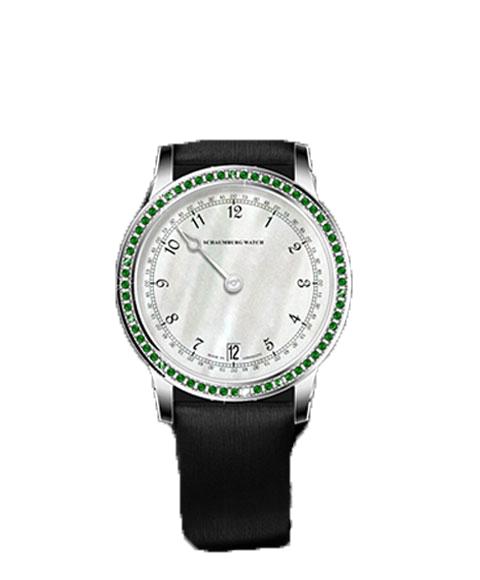 シャウボーグ GNOMONIK-LYGR ウーマンパッショングリーン WOMAN PASSION GREENパーズ 腕時計 レディース SCHAUMBURG GNOMONIK 自動巻 レザーストラップ