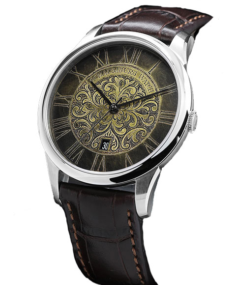 シャウボーグ ウニカトリウム パティナ Patina 腕時計 メンズ SCHAUMBURG Unikatorium Hand Made Patina 自動巻 レザーストラップ