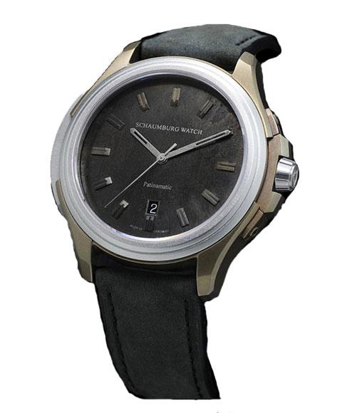 海外取り寄せ シャウボーグ アーバニック パティナマティック Patinamatic 腕時計 メンズ SCHAUMBURG Urbanic Patinamatic 自動巻 レザーストラップ