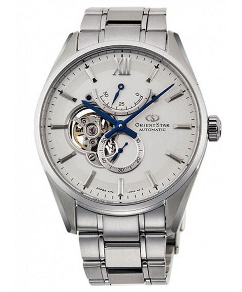 オリエントスター スリムスケルトン RK-HJ0001S 腕時計 自動巻き メンズ ORIENT STAR メタルブレス ビジネスウォッチ 父の日 プレゼント シルバー