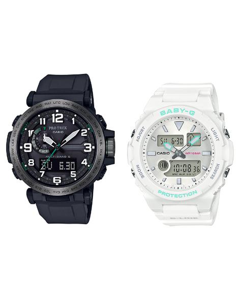 カシオ ジーショック PRW6600Y1JF/BAX1007AJF 腕時計 メンズ/レディース CASIO G-SHOCK ペアウォッチ 防水 プレゼント 記念日 お揃い ホワイト系