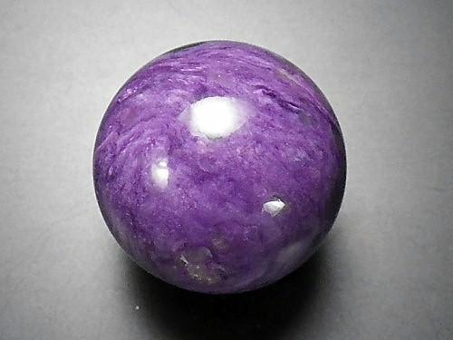 【送料無料】【スピリチアルストーン】魅惑の石【高品質】チャロアイト丸玉30ミリ玉ロシア産(06)