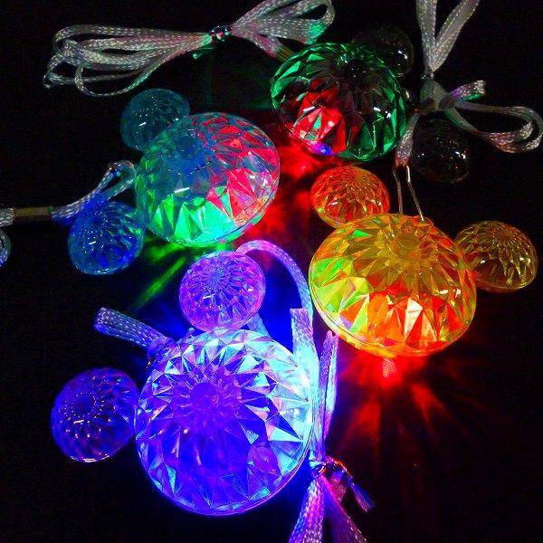 光るおもちゃ 光り物玩具 光るマウスペンダント 36個セット 縁日 おもちゃ 夏祭り 本物 お祭り 景品 贈物
