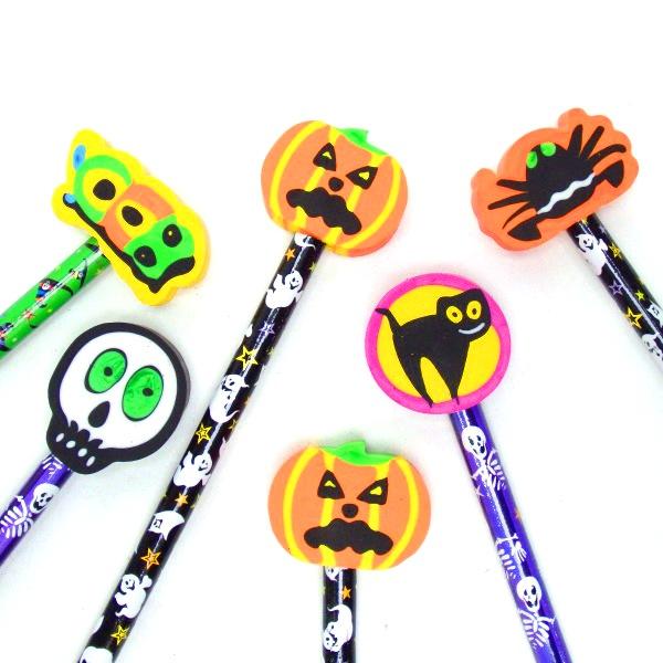 ハロウィン けしごむ付えんぴつ 24個セット かぼちゃ カボチャ おもちゃ イベント 流行 子供会 景品玩具 幼稚園 保育園 お見舞い