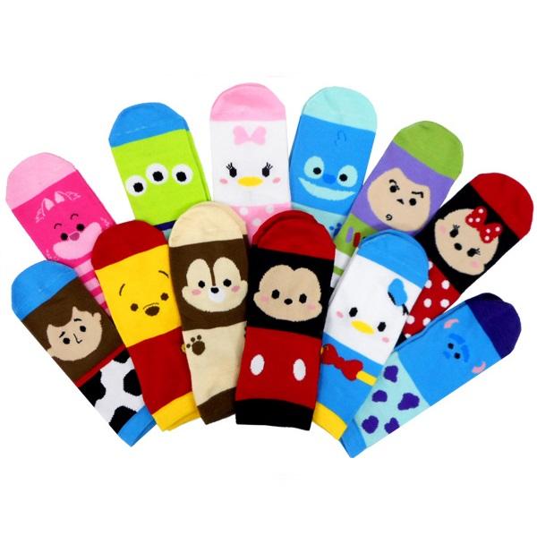 ディズニーツムツムカラフル靴下 12個セット 景品 子供 ディズニー ミッキー 縁日 イベント おもちゃ 優先配送 お祭り 評判 ミニー 子供会
