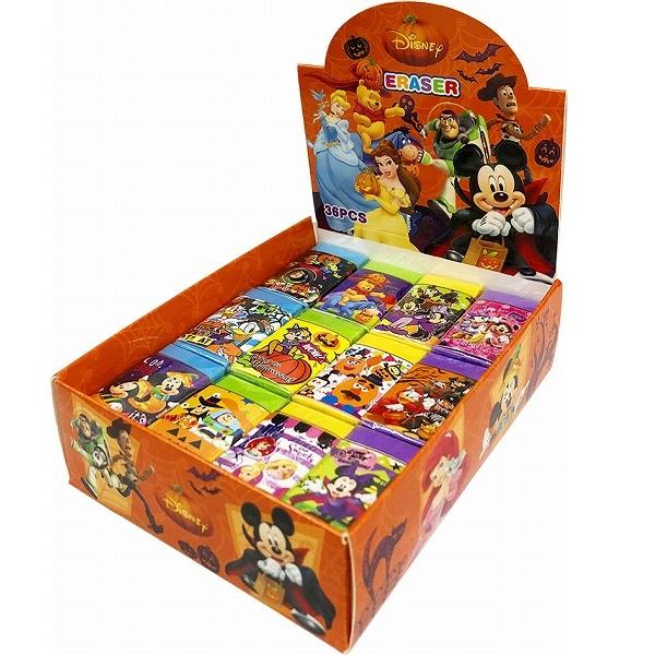 市場 ハロウィン ディズニーハロウィン消しゴム 36個セット 景品 子供 おもちゃ 保育園 ディズニー 在庫あり イベント 子供会 幼稚園