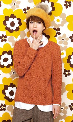 作品♪212FW-12アラン模様のセーター