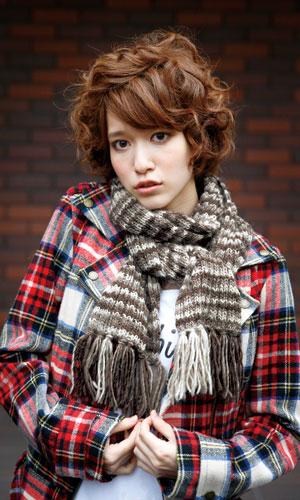 作品♪212W-272目ゴム編みのマフラー
